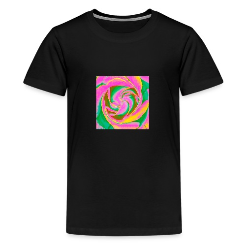 Psychedelic Rose - Teenage Premium T-Shirt