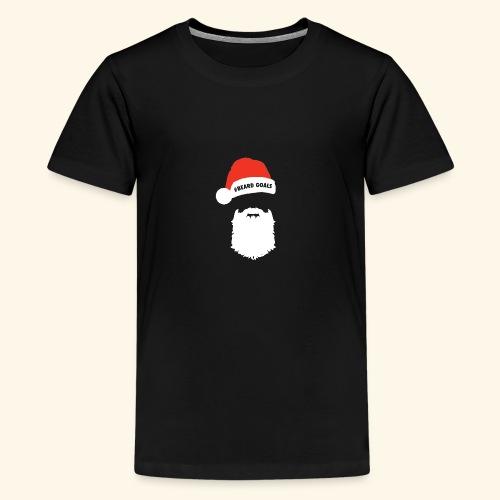 Beard Goals Santa - Teenage Premium T-Shirt