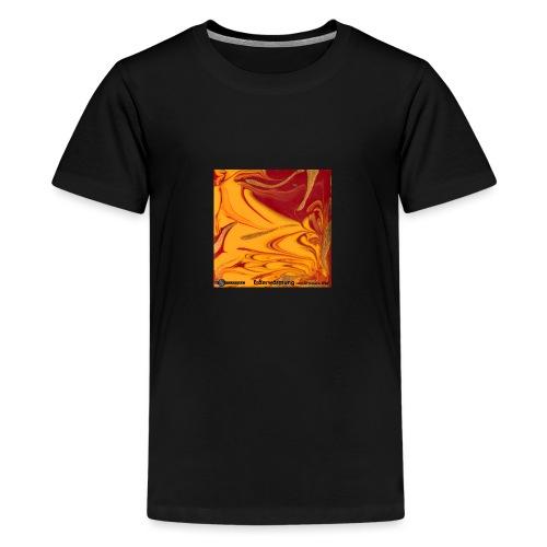 TIAN GREEN Mosaik DE102 - Erderwärmung zerstört .. - Teenager Premium T-Shirt