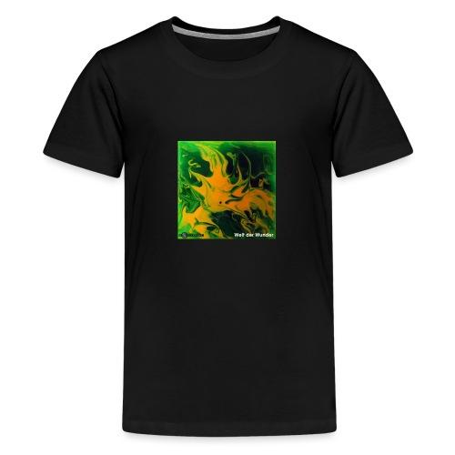 TIAN GREEN Mosaik DE002 - Welt der Wunder - Teenager Premium T-Shirt