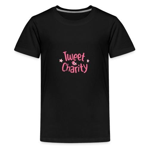 Tweet Charity (Pink) - Maglietta Premium per ragazzi