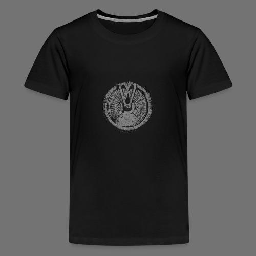 Maschinentelegraph (harmaa oldstyle) - Teinien premium t-paita