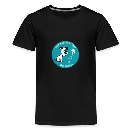 One Paw at a Time Logo - Teenage Premium T-Shirt
