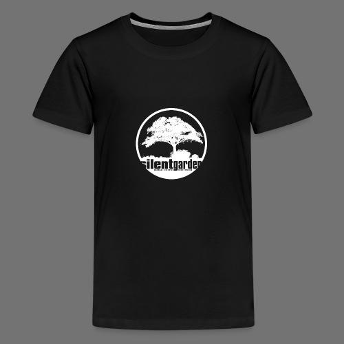 hiljainen puutarha (valkoinen) - Teinien premium t-paita