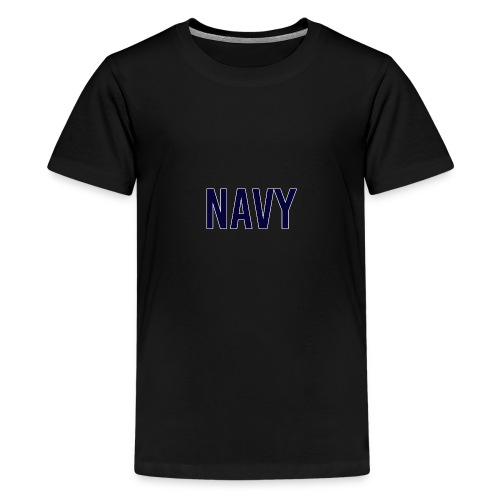 NAVY - Navy Blue - Teenage Premium T-Shirt