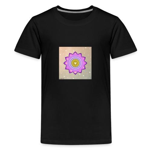 0 1 Dove Surrounded by Religious Symbols. - Teenage Premium T-Shirt