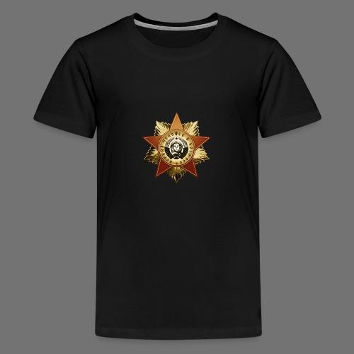 Kosmonautti mitali - Teinien premium t-paita