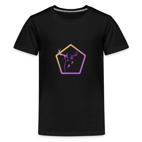 Cerf Pentagone - T-shirt Premium Ado