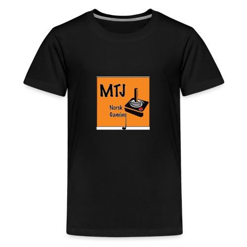 Mtj Logo - Premium T-skjorte for tenåringer