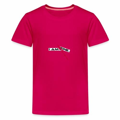 I AM FINE Design mit Schnitt, Depression, Cut - Teenager Premium T-Shirt