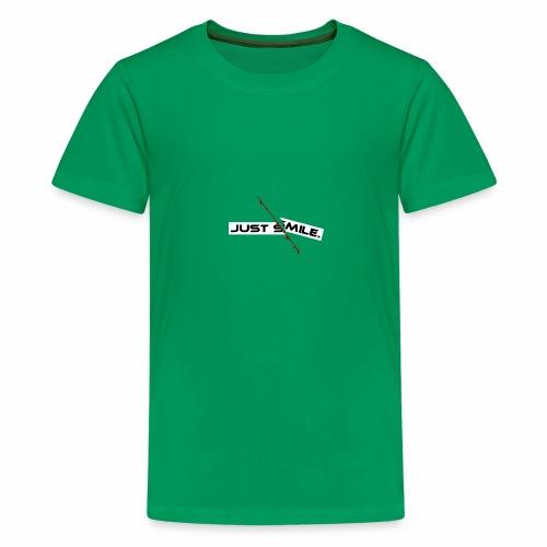 JUST SMILE Design mit blutigem Schnitt, Depression - Teenager Premium T-Shirt