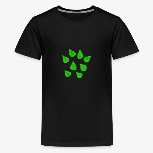 Lehdet - Teinien premium t-paita
