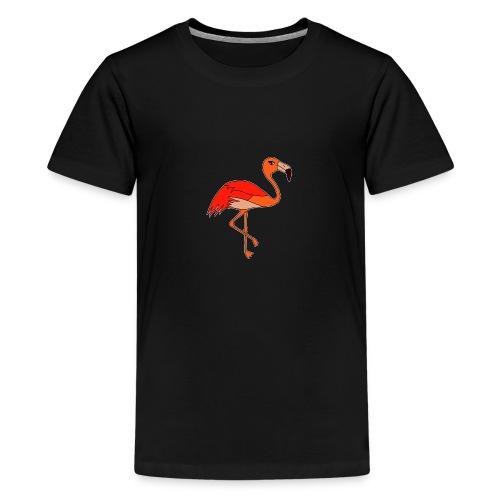 Flamingo - orange-rot - Teenager Premium T-Shirt