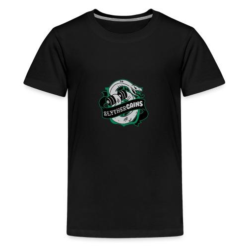 Hogweights Swolecraft Liftery Slythergains - Teenager Premium T-Shirt