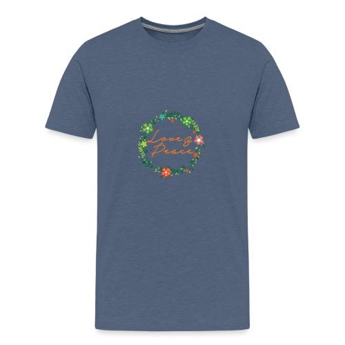 Love and Peace - Teenage Premium T-Shirt