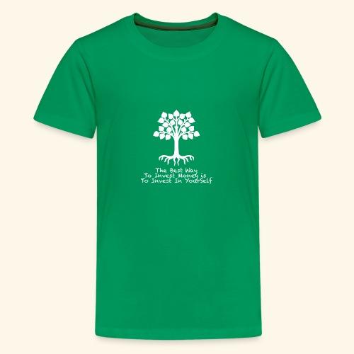 Printed T-Shirt Tree Best Way Invest Money - Maglietta Premium per ragazzi