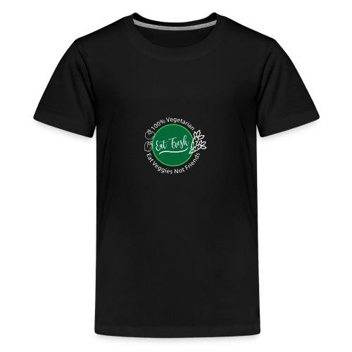 Gezond eten vegetarische t-shirt - Teenager Premium T-shirt