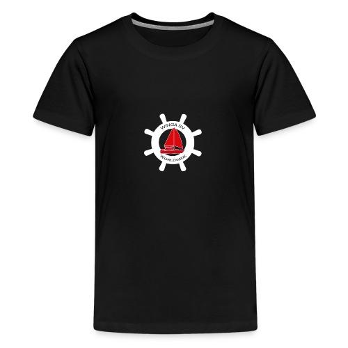 Winga Segelboote weiss/rot - Teenager Premium T-Shirt