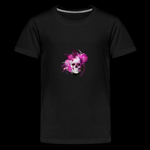 Pink fantasy skull - Premium-T-shirt tonåring