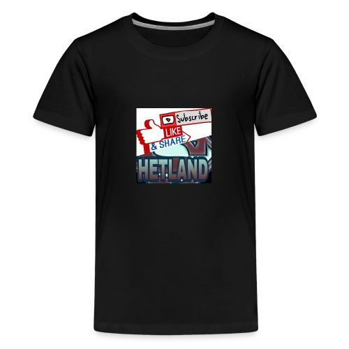 LikeSubscribe&Share - Premium T-skjorte for tenåringer