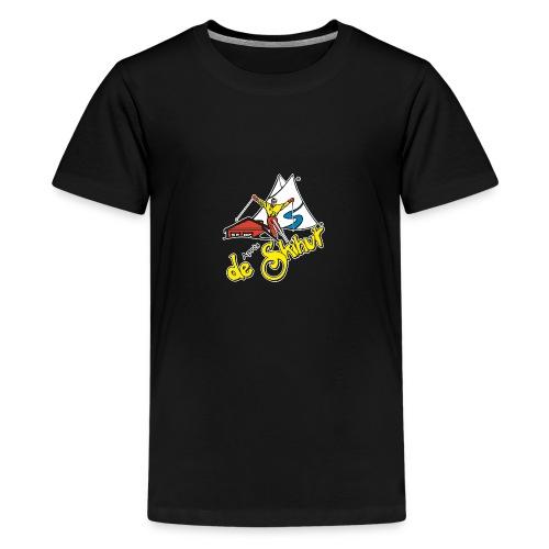 14787 fl tshirt logo skihut rotterdam - Teenager Premium T-shirt