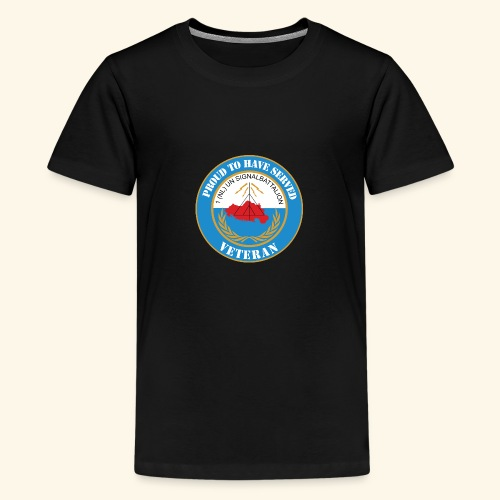 1 nl un signalbattalion veteraan - Teenager Premium T-shirt