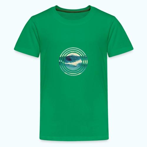 Wave vintage watercolor - Teenage Premium T-Shirt