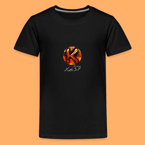 Kai_307 - Profilbild + Unterschrift Weiß - Teenager Premium T-Shirt