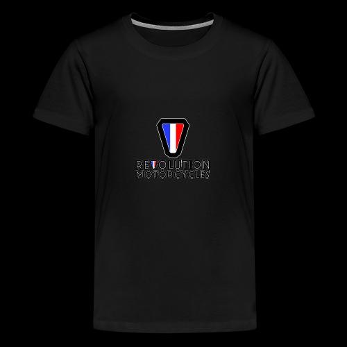 V and Text - T-shirt Premium Ado