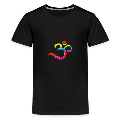 Om Mantra Symbol Yoga Regenbogen - Teenager Premium T-Shirt