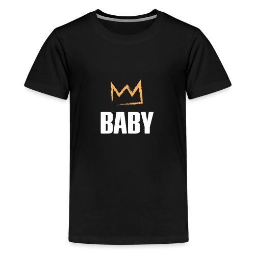 Baby mit Krone - Teenager Premium T-Shirt