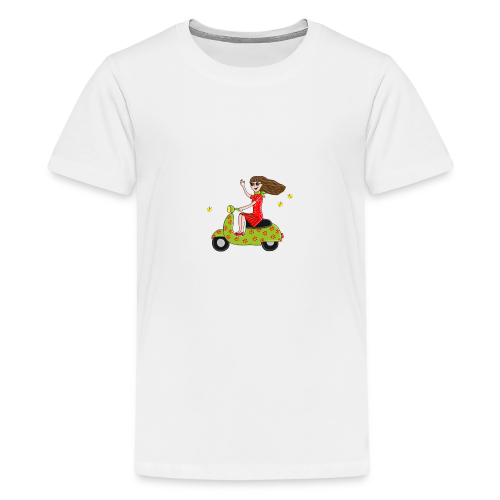 Mit dem Moped in den Sommer - Teenager Premium T-Shirt