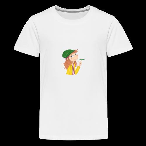 Ich bin eine Illustratorin - Teenager Premium T-Shirt