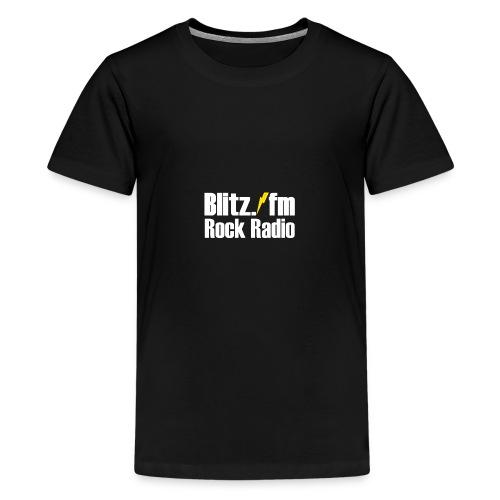 BLITZ FM TSHIRT Schwarz - Teenager Premium T-Shirt