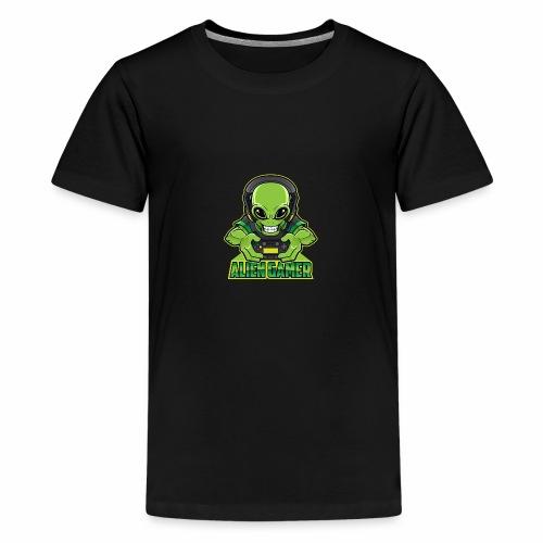 AlienGamer Testo - Maglietta Premium per ragazzi
