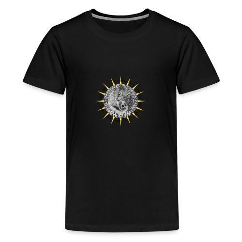 EULE OWL Yin Yang - Teenager Premium T-Shirt