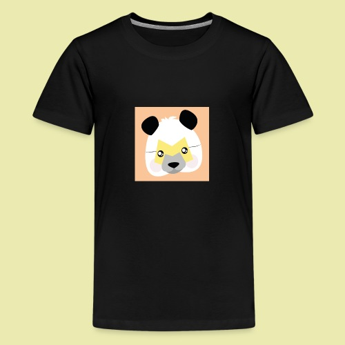 Amazing Super Panda with M mask! - Premium T-skjorte for tenåringer