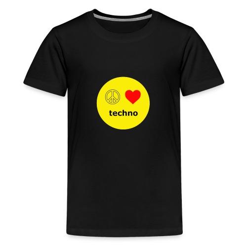paz amor techno - Camiseta premium adolescente