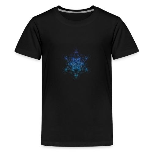 Fractal Metatron's Rotation Gradient - Teenage Premium T-Shirt