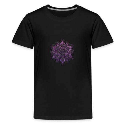 Sacred Traingle Circles Gradient - Teenage Premium T-Shirt
