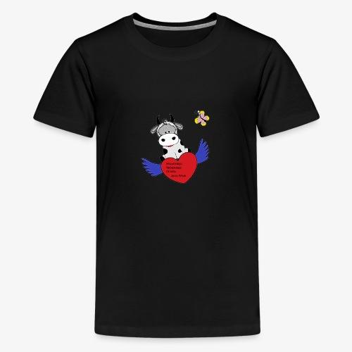 Wnuk Krówka składa życzenia - Koszulka młodzieżowa Premium