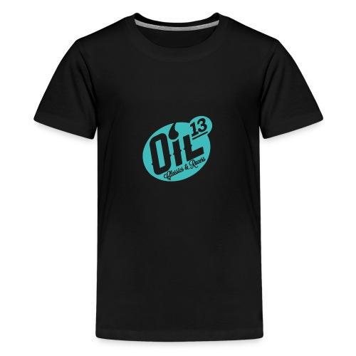 Oil13 Logo Scudo001 transparente azul 001 - Camiseta premium adolescente