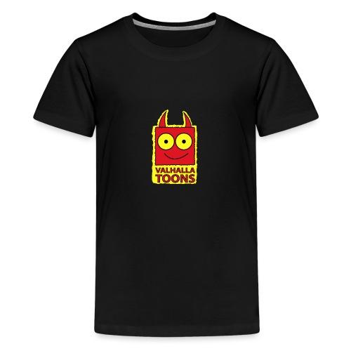 Valhalla Design 1 yellow bg - Teenage Premium T-Shirt
