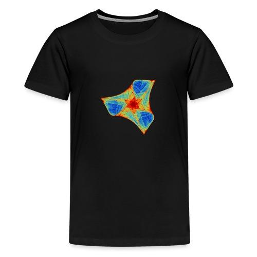 Colorful boomerang starfish sea creature 12117j - Teenage Premium T-Shirt