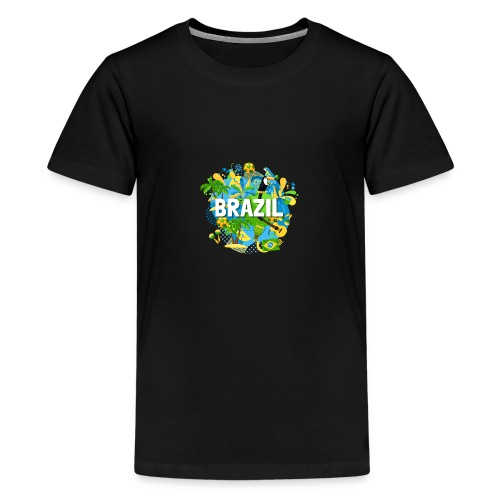 Encontro Brasil - Teenage Premium T-Shirt
