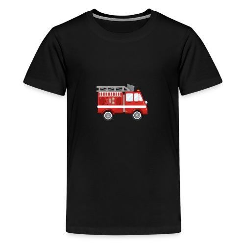 Wóz strażacki Straż pożarna - Koszulka młodzieżowa Premium