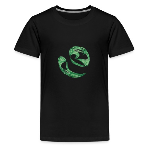 Unequal pair of green twins in the wind 7761alg - Teenage Premium T-Shirt