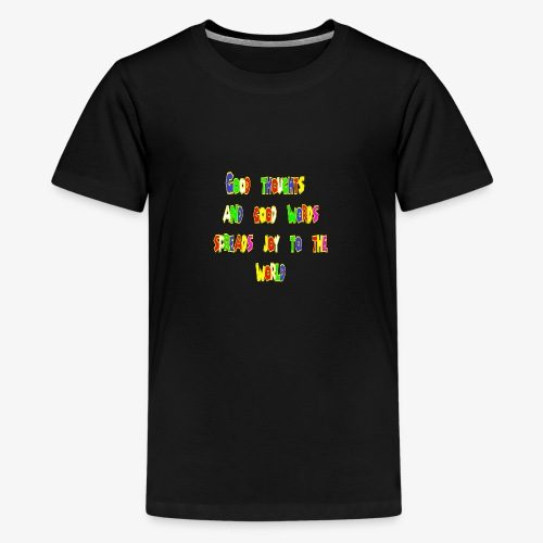 Good thoughts quote - Premium-T-shirt tonåring