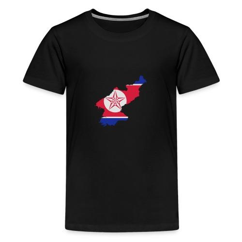 north korea - Premium T-skjorte for tenåringer