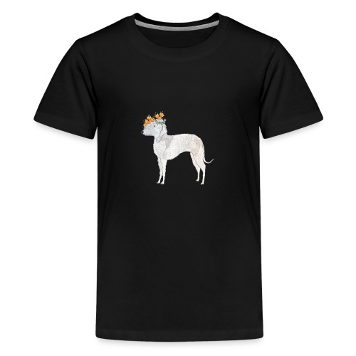 bedlington with flower - Teenager premium T-shirt